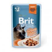 Влажный корм Brit Premium с индейкой в соусе, 85 гр.