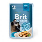 Влажный корм Brit Premium с курицей в соусе, 85 гр.