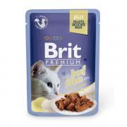 Влажный корм Brit Premium с говядиной в желе, 85 гр.
