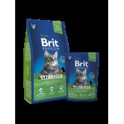 Корм Brit Premium Cat Sterilised для взрослых стерилизованных кошек
