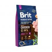 Корм Brit Premium by Nature Adult S сухой корм для собак мелких пород с курицей