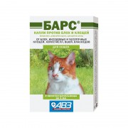 Капли Барс от блох и клещей для кошек (1 пипетка)