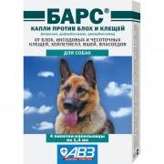 Капли Барс от блох и клещей для собак (1 пипетка)