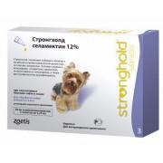 Капли Стронгхолд для собак на холку от глистов, блох, власоедов, клещей, 1 пипетка