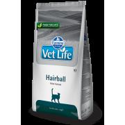 Корм Farmina Vet Life Hairball для вывода волосяных комочков у кошек