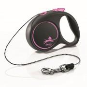 Рулетка для собак FLEXI Black Design XS до 8 кг трос 3 м
