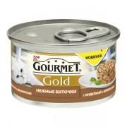 Консервы Gourmet Gold для кошек нежные биточки с индейкой и шпинатом 85 гр.