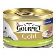 Консервы Gourmet Gold для кошек паштет из кролика, 85 гр.