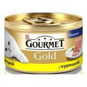 Консервы Gourmet Gold для кошек паштет из курицы, 85 гр.