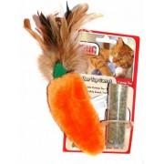 """Игрушка """"Kong"""" морковь плюш с тубом кошачьей мяты для кошек"""